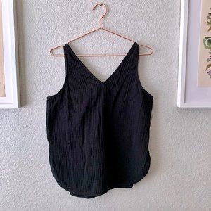 NWT Textured-Weave V-Neck Sleeveless Top